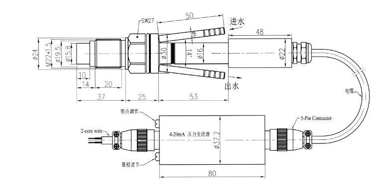 PTL701B尺寸圖